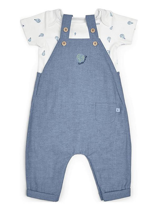 SALE  BABY BOYS   2  PEICE  DUNGAREE  SET  BLUE  NEWBORN  0//3  3//6  MONTHS