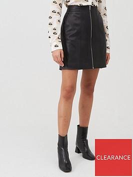 hugo-leather-zip-skirt-blacknbsp