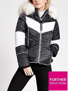 ri-petite-ri-petite-faux-fur-hood-trim-padded-jacket--navy