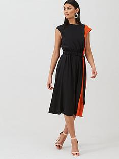 boss-casual-midi-length-silk-dress-blacknbsp
