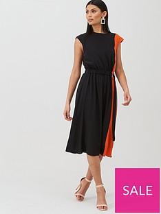 boss-casual-midi-length-silk-dress-blacknbsp