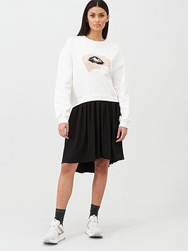 hugo-2-in-1-overlay-sweat-dress-naturalnbsp