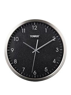 tower-glitz-black-wall-clock