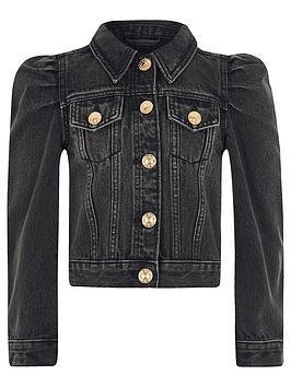 river-island-girls-puff-sleeve-denim-jacket--black