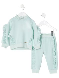 river-island-mini-mini-girls-scuba-sweat-and-jogpant-set-mint