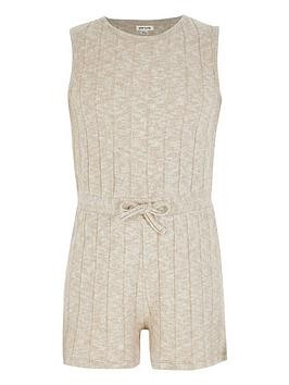 river-island-girls-cosy-knitted-playsuit-beige