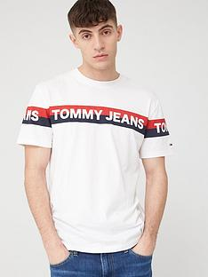 tommy-jeans-double-stripe-logo-short-sleeve-t-shirt-white