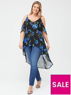 v-by-very-curve-waterfall-cold-shoulder-cami-top-floral-print
