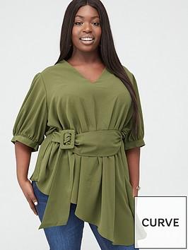 v-by-very-curve-asymmetric-belted-blouse-khaki