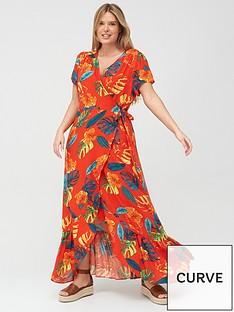 v-by-very-curve-printed-viscose-wrap-dress-tropical-print