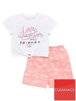 friends-girls-friendsnbsptie-t-shirt-and-short-pjs-multi