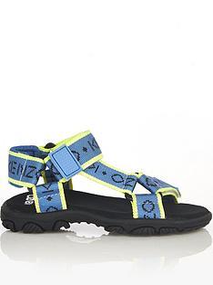 kenzo-boys-logo-sandals-blue