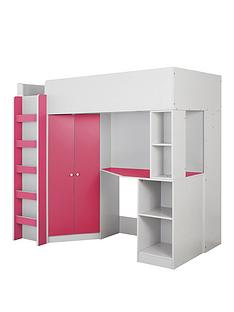 miami-fresh-high-sleeper-bed-with-desk-wardrobe-and-shelves-pink