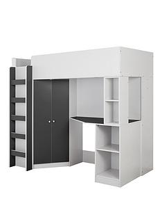 miami-fresh-high-sleeper-bed-with-desk-wardrobe-and-shelves-black