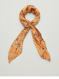 v-by-very-floral-satin-plisse-multi-use-scarf-mustard