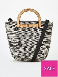 v-by-very-pinta-wooden-handle-weave-crossbody-black-white