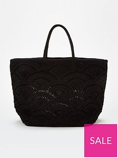 v-by-very-jax-cut-out-weave-tote-black