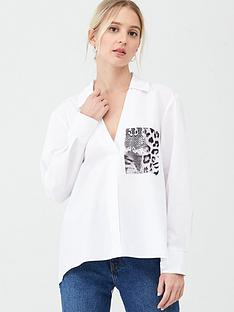 river-island-river-island-snake-pocket-long-sleeve-shirt-white