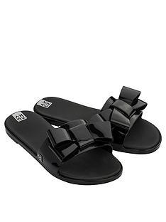 zaxy-sky-slide-bow-flat-sandals-black