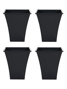 wham-set-of-4-black-23cm-square-metallica-planters