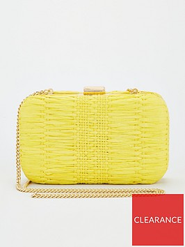 v-by-very-kit-woven-boxclutch-yellow