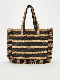 v-by-very-jellie-stripe-straw-tote-bag-naturalblack