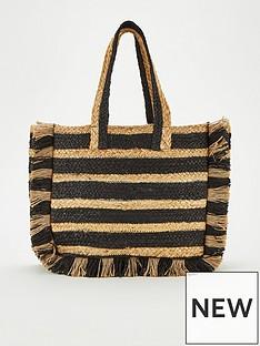 v-by-very-jellie-stripe-straw-tote-bag-naturalblack