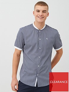 river-island-short-sleeve-baseball-collar-polo-shirt-grey