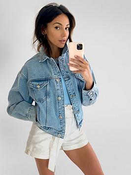 michelle-keegan-cropped-elasicated-back-denim-jacket