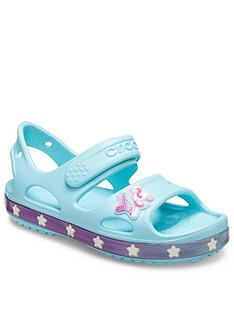 crocs-girls-unicorn-charm-sandal-ice-blue