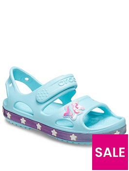 crocs-girls-unicorn-charm-sandal-ice-blue