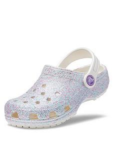 crocs-girls-classic-glitter-clog-slip-on-shoes-oyster