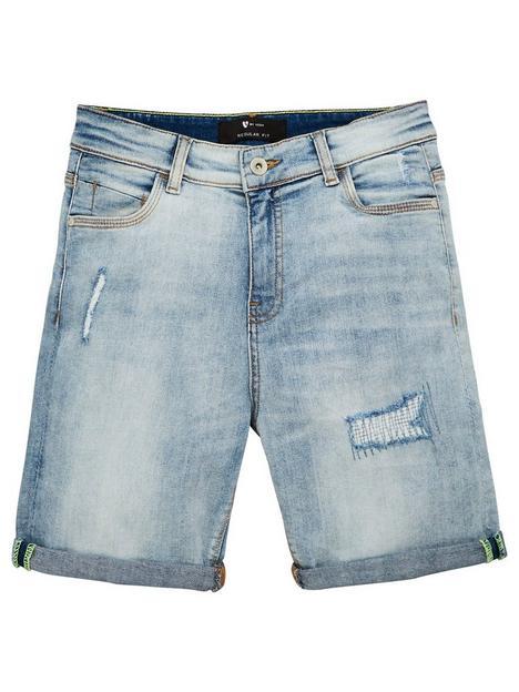 v-by-very-boys-rip-and-repair-denim-shorts-light-vintage-wash