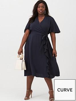 v-by-very-curve-vienna-wrap-frill-dress-navy
