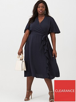 v-by-very-curve-vienna-wrap-frill-dress-navy