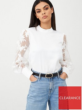 river-island-printed-organza-puff-sleeve-blouse-white