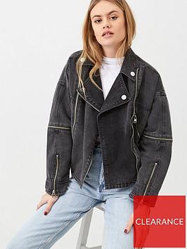 river-island-belted-zip-front-denim-jacket-black