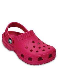 crocs-girls-classic-clog-slip-on-shoes-pink