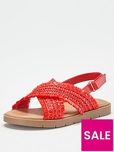 v-by-very-girls-cross-strap-sandal-red