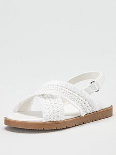 v-by-very-girls-cross-strap-sandal-white
