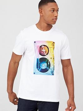 hugo-dours-cassette-print-t-shirt-white
