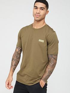 hugo-durned-chest-logo-t-shirt-khaki