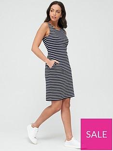 barbour-dalmore-stripe-dress-navy-white
