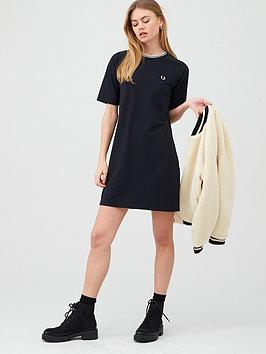fred-perry-twin-tipped-pique-dress-black