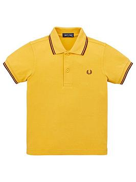 fred-perry-boys-twin-tipped-short-sleeve-polo-shirt-gold
