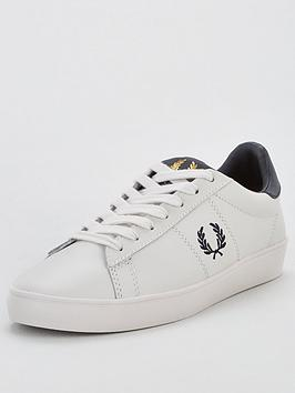 fred perry spencer leather pump - white , cream, size 4, women