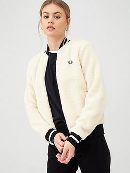 fred-perry-borg-fleece-jacket-ecru