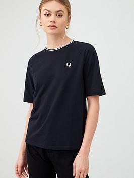 fred-perry-pique-t-shirt-black