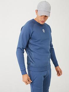 gym-king-overlay-crew-neck-sweatshirt-airforce-blue