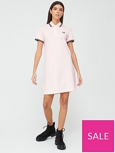 fred-perry-twin-tipped-polo-t-shirt-dress-pink